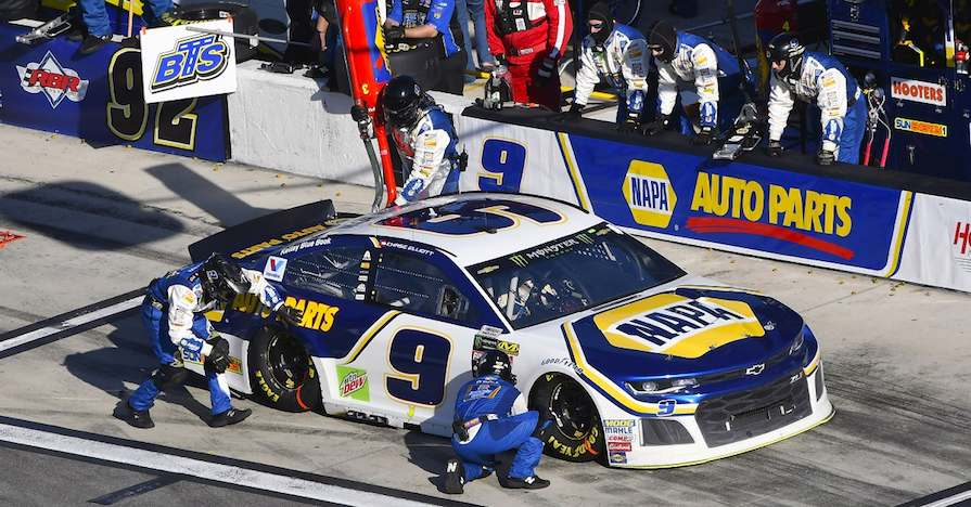 2018 NASCAR Cup - Daytona 500 Daytona International Speedway, Daytona Beach, FL USA Sunday 18 February 2018 Chase Elliott, Hendrick Motorsports, NAPA Auto Parts Chevrolet Camaro World Copyright: {Nigel Kinrade}/NKP