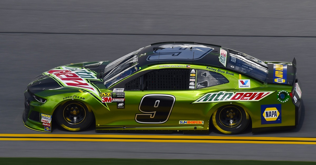 Monster Energy NASCAR Cup Series The Advance Auto Parts Clash Daytona International Speedway, Daytona Beach, FL USA Saturday 10 February 2018 Chase Elliott, Hendrick Motorsports, Mountain Dew Chevrolet Camaro World Copyright: Nigel Kinrade NKP
