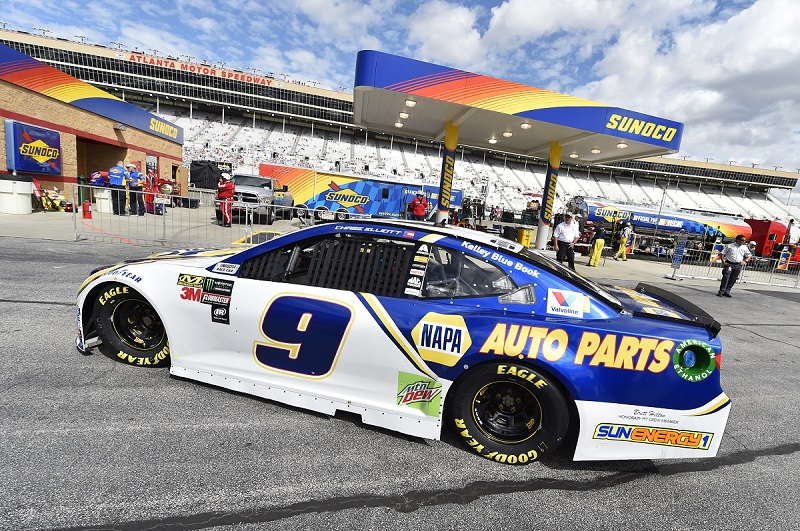 Monster Energy NASCAR Cup Series Folds of Honor Quik Trip 500 Atlanta Motor Speedway, Hampton, GA USA Saturday 24 February 2018 Chase Elliott, Hendrick Motorsports, NAPA Auto Parts Chevrolet Camaro World Copyright: Nigel Kinrade NKP