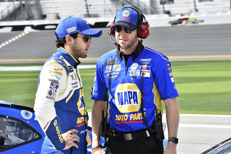 Monster Energy NASCAR Cup Series Daytona 500 Daytona International Speedway, Daytona Beach, FL USA Sunday 11 February 2018 Chase Elliott, Hendrick Motorsports, NAPA Auto Parts Chevrolet Camaro, Alan Gustafson World Copyright: John K Harrelson NKP