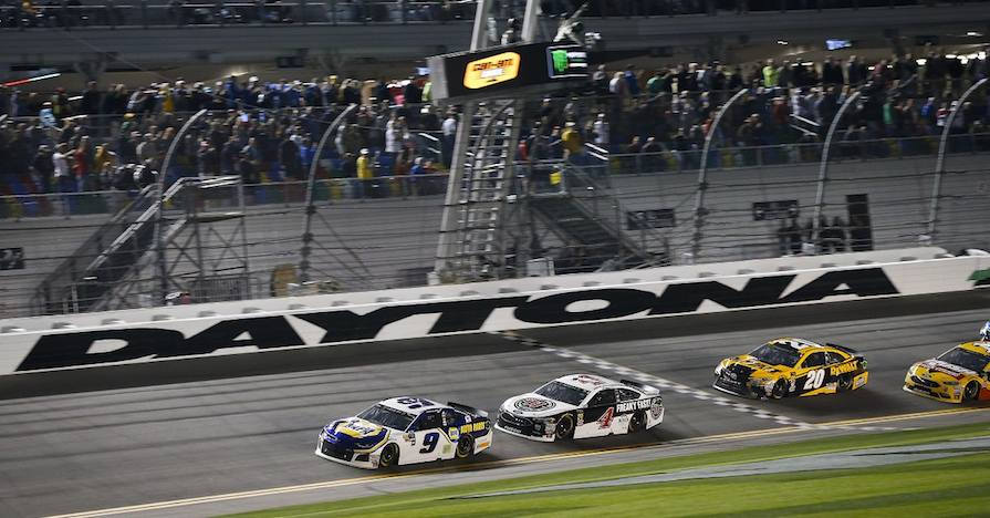 Monster Energy NASCAR Cup Series Can-Am Duel At Daytona Daytona International Speedway, Daytona Beach, FL USA Thursday 15 February 2018 Chase Elliott, Hendrick Motorsports, NAPA Auto Parts Chevrolet Camaro wins World Copyright: Barry Cantrell NKP