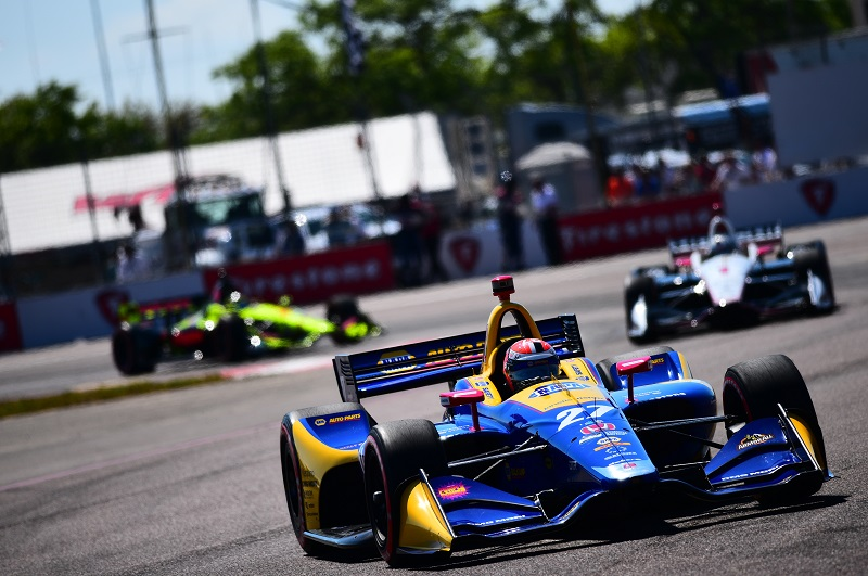 |Photographer: Jamie Sheldrick|Session: grid|Event: Grand Prix of St Petersburg|Circuit: St Petersburg|Location: Florida|Series: Verizon IndyCar Series|Season: 2018|Country: US|Car: Honda|Number: 27|Team: Andretti Autosport|Driver: Alexander Rossi|