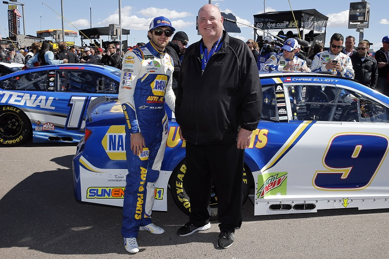 Monster Energy NASCAR Cup Series Pennzoil 400 Las Vegas Motor Speedway, Las Vegas, NV USA Sunday 4 March 2018 Chase Elliott, Hendrick Motorsports, Chevrolet Camaro NAPA Auto Parts and guest World Copyright: Russell LaBounty NKP