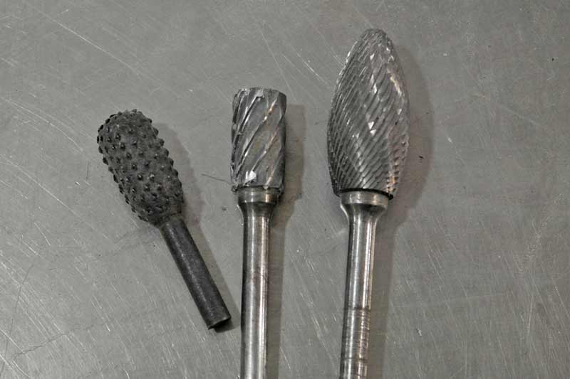 These burrs represent the basics. From the left: very course, good for wood and plastic. Middle: course, suitable for wood, plastic and non-ferrous metals. Right: fine, best for ferrous metals.