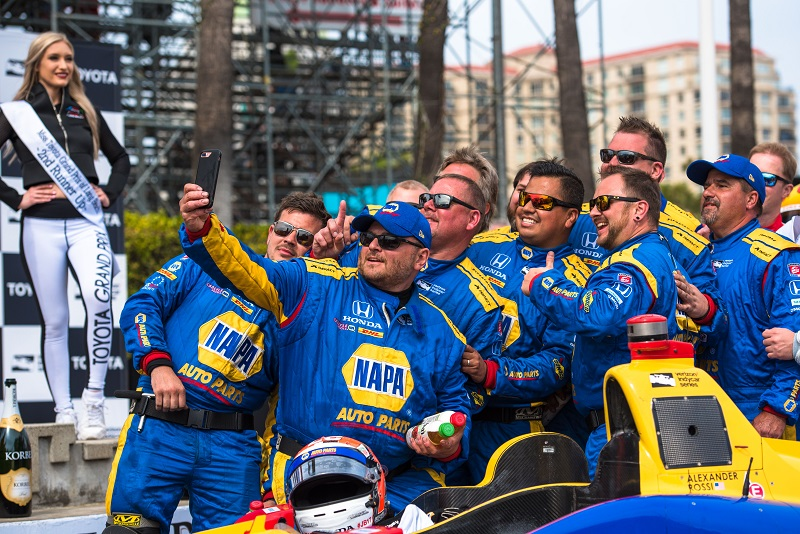 | Photographer: Dan Bathie| Event: Toyota Grand Prix of Long Beach| Circuit: Streets of Long Beach| Location: Long Beach| Series: Verizon IndyCar Series| Season: 2018| Country: US| | Driver: Alexander Rossi| Team: Andretti Autosport| Number: 27| Car: Honda|