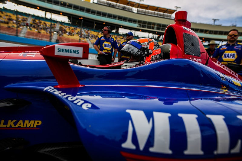 | Driver: Alexander Rossi| Team: Andretti Autosport| Number: 27| Car: Honda|| Photographer: Andy Clary| Event: Phoenix Grand Prix| Circuit: ISM Raceway| Location: Phoenix| Series: Verizon IndyCar Series| Season: 2018| Country: US|| Keyword: motorsport|| Keyword: motor racing|| Keyword: Desert Diamond West Valley Casino|| Session: Qualifying|