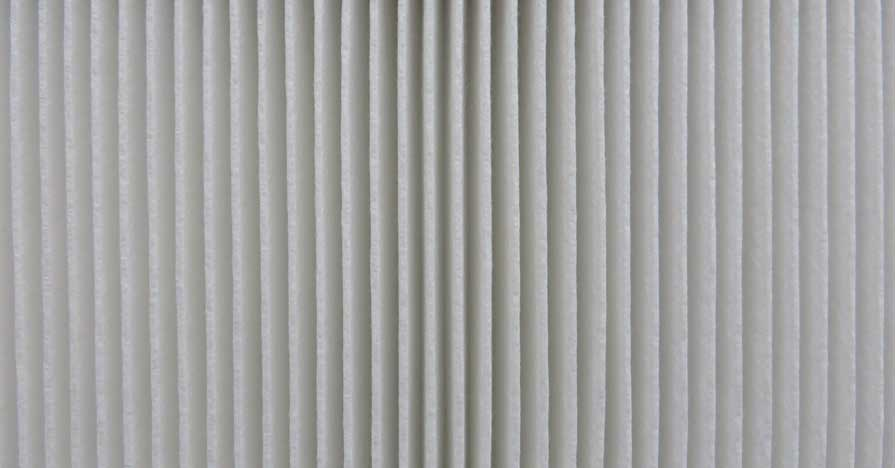 A close-up of an automotive air filter.