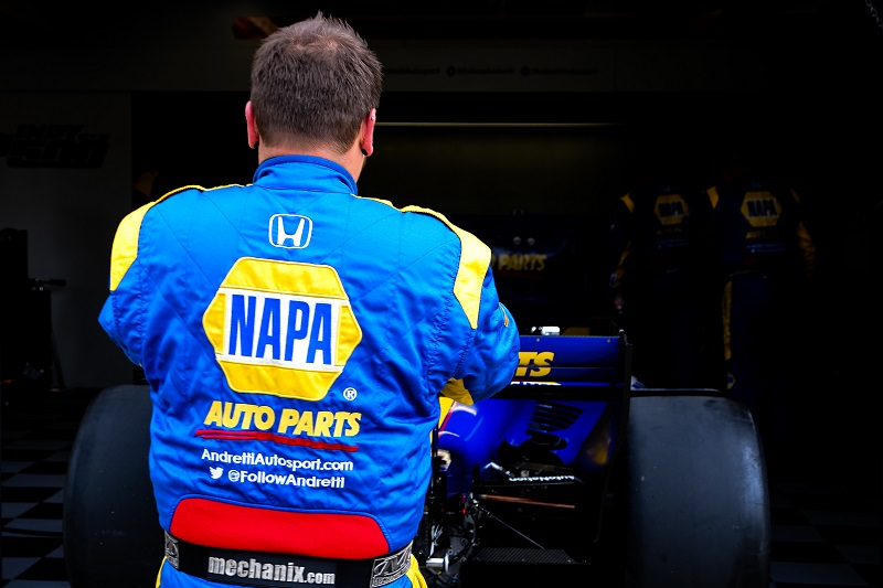| Driver: Alexander Rossi| Team: Andretti Autosport| Number: 27| Car: Honda|| Photographer: Andy Clary| Event: IndyCar Grand Prix | Circuit: Indianapolis Motor Speedway| Location: Indianapolis| Series: Verizon IndyCar Series| Season: 2018| Country: US|| Session: Race|