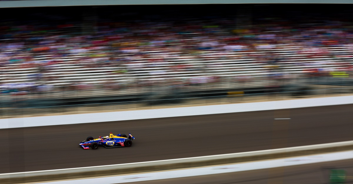   Driver: Alexander Rossi  Team: Andretti Autosport  Number: 27  Car: Honda   Photographer: Shivraj Gohil  Event: Indy 500   Circuit: Indianapolis Motor Speedway  Location: Indianapolis  Series: Verizon IndyCar Series  Season: 2018  Country: US   Session: Race 