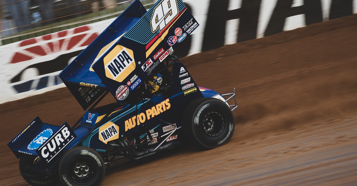 Brad Sweet Charlotte NAPA AUTO PARTS 49 sprint car feat