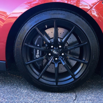 Summer tires on a 2017 Shelby GT350 (photo from my personal collection).