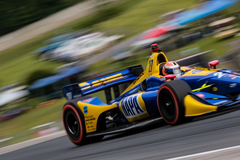 | Driver: Alexander Rossi| Team: Andretti Autosport| Number: 27| Car: Honda|| Photographer: Andy Clary| Event: Kohler Grand Prix| Circuit: Road America| Location: Elkhart Lake| Series: Verizon IndyCar Series| Season: 2018| Country: US| Keyword: motor racing| Keyword: motorsport|| Session: P2|