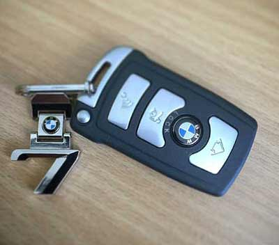 a key fob for a keyless entry vehicle