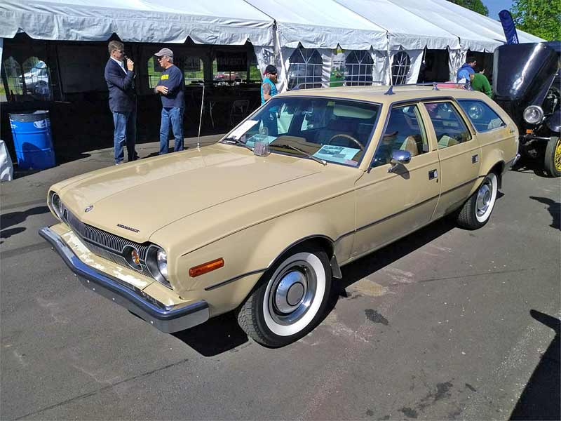 An cream station wagon