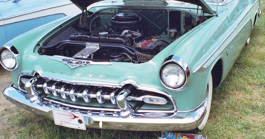 This car from 1955 has a 6-volt battery under the hood. Knowing your battery size is critical to learning how to choose a car battery.