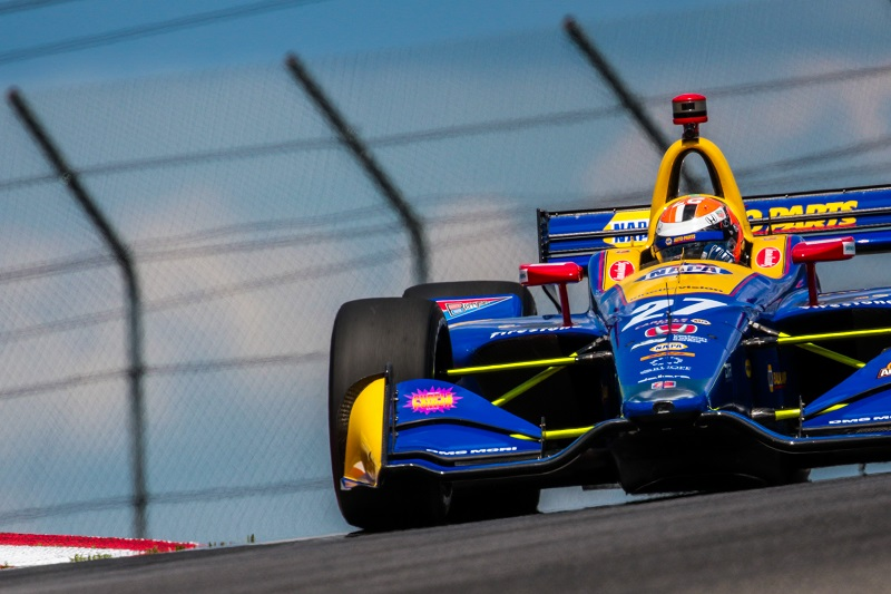 | Driver: Alexander Rossi| Team: Andretti Autosport| Number: 27| Car: Honda|| Photographer: Andy Clary| Event: Honda Indy 200| Circuit: Mid-Ohio Sportscar Course| Location: Lexington, Ohio| Series: Verizon IndyCar Series| Season: 2018| Country: US| Keyword: motor racing| Keyword: motorsport|| Session: P2|
