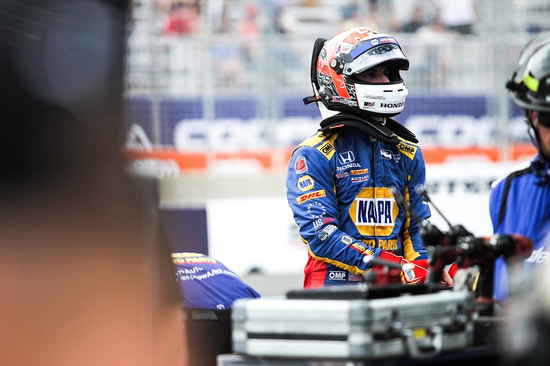 | Photographer: Adam Pigott| Event: Honda Indy Toronto | Circuit: Streets of Toronto| Location: Toronto, Ontario| Series: Verizon IndyCar Series| Season: 2018| Country: US| Keyword: motor racing| Keyword: motorsport| Keyword: Exhibition Place| Keyword: Canada| | Driver: Alexander Rossi| Team: Andretti Autosport| Number: 27| Car: Honda|