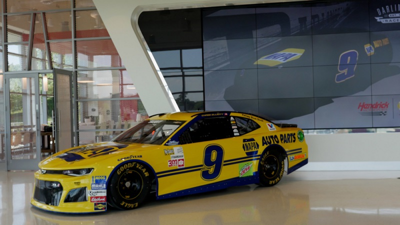 napa throwback paint scheme carries special significance to elliott