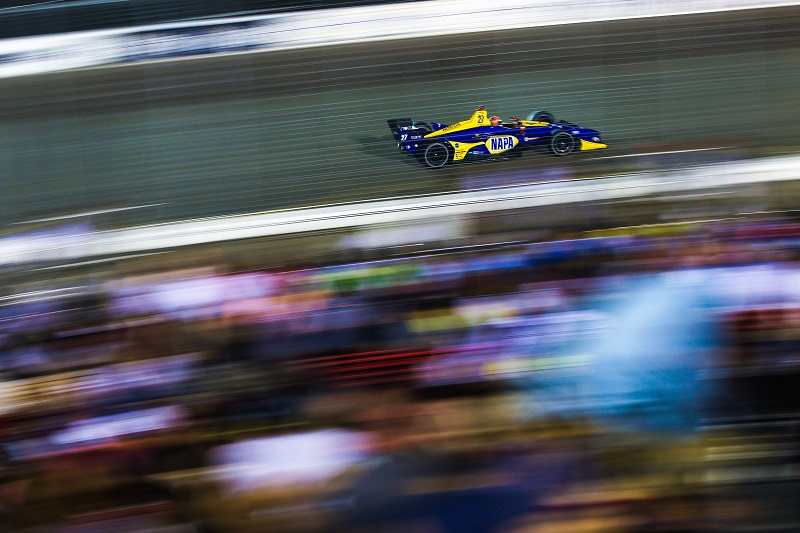 | Driver: Alexander Rossi| Team: Andretti Autosport| Number: 27| Car: Honda|| Session: Race | Photographer: Adam Pigott| Event: Bommarito Automotive Group 500| Circuit: Gateway Motorsports Park| Location: Madison, IL| Series: Verizon IndyCar Series| Season: 2018| Country: US| Keyword: motor racing| Keyword: motorsport| |