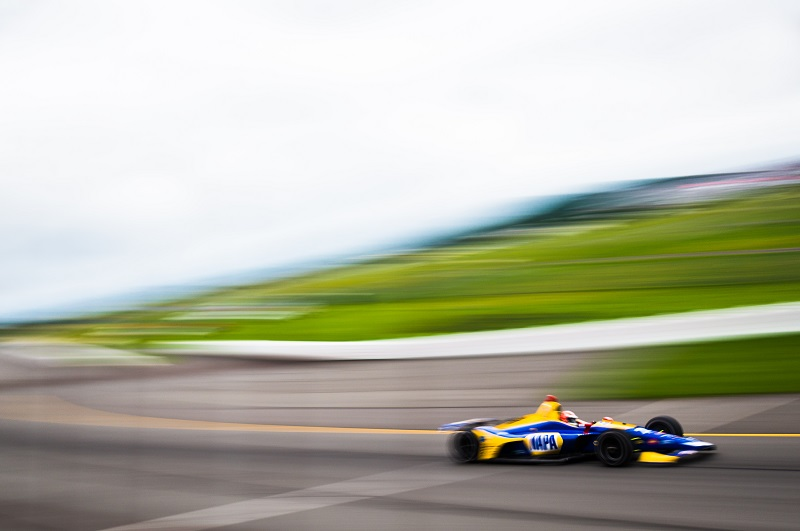 |Photographer: Jamie Sheldrick|Session: race|Event: ABC Supply 500|Circuit: Pocono Raceway|Location: Long Pond, PA|Series: Verizon IndyCar Series|Season: 2018|Country: US|Car: Honda|Number: 27|Team: Andretti Autosport|Driver: Alexander Rossi|