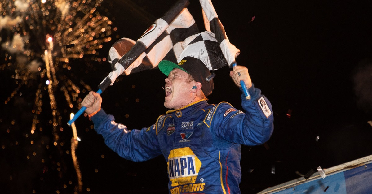 Brad Sweet wins Knoxville Nationals 2018 NAPA AUTO PARTS sprint car celebration