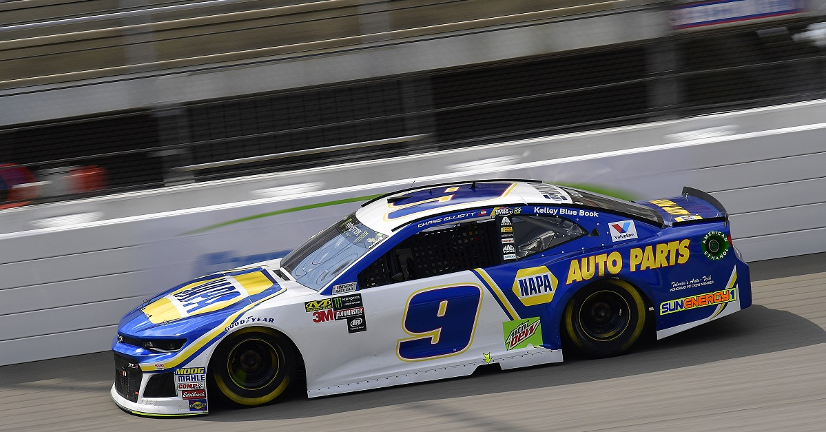 Elliott Collects Top-Ten Finish in 100th Cup Series Start at Michigan