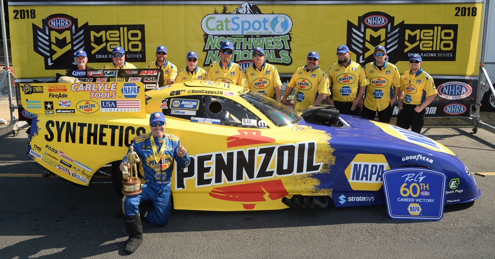 Ron-Capps-NHRA-NAPA-Funny-Car-Seattle-winners-circle-team.