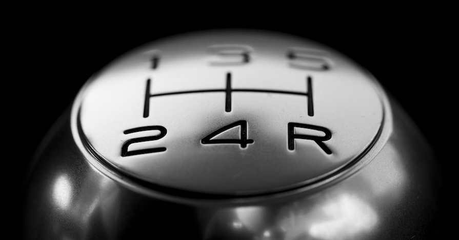 This shift knob for a five-speed manual transmission is becoming a far less common sight.