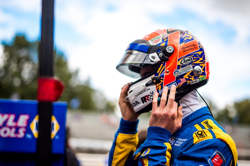 | Photographer: Dan Bathie| Event: Grand Prix of Portland | Circuit: Portland International Raceway| Location: Portland, OR| Series: Verizon IndyCar Series| Season: 2018| Country: US| Keyword: motor racing| Keyword: motorsport| | Session: P1| | Driver: Alexander Rossi| Team: Andretti Autosport| Number: 27| Car: Honda|