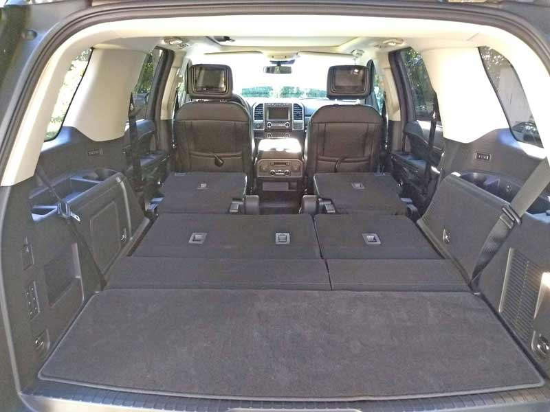 An absolutely massive amount of cargo space is available when both the second and third rows seats are stored flat.