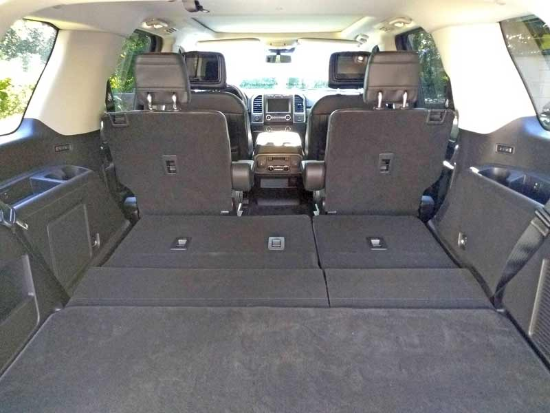 Cargo space with the third row seats stored flat is extremely generous.