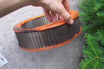 Heavy debris impedes the flow of air and can even collapse the filter.