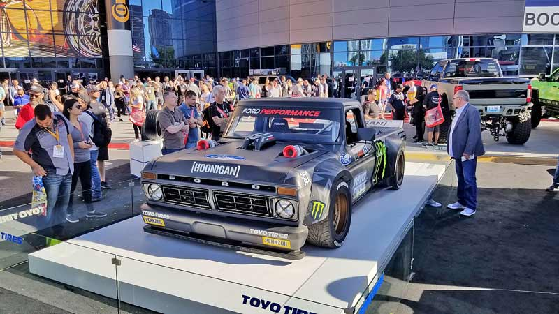 Hoonigan Hoonitruck is a 900-hp Ford F150-based machine. This is the epitome of a wild ride.