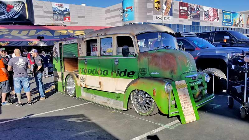 Built in Belgium, this 1955 Chevy cab-over was once a firetruck, and now it is a wild SEMA Show ride