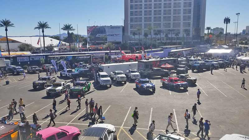 If you like lifted, jacked up, crazy trucks, the SEMA Show has them in spades.