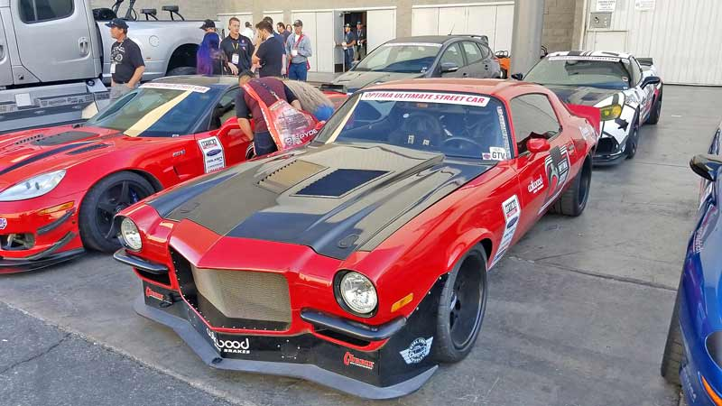 A custom racing vintage Camaro