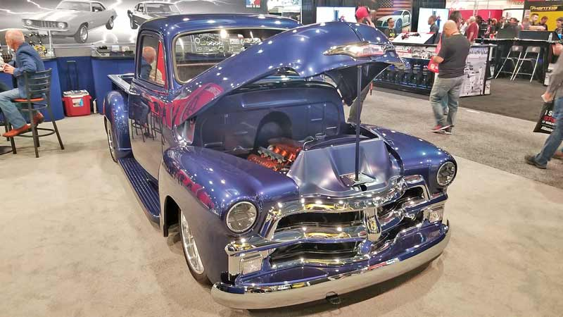 Sometimes clean and understated are the best way to go, like this 1954 Chevy truck with an LS swap.