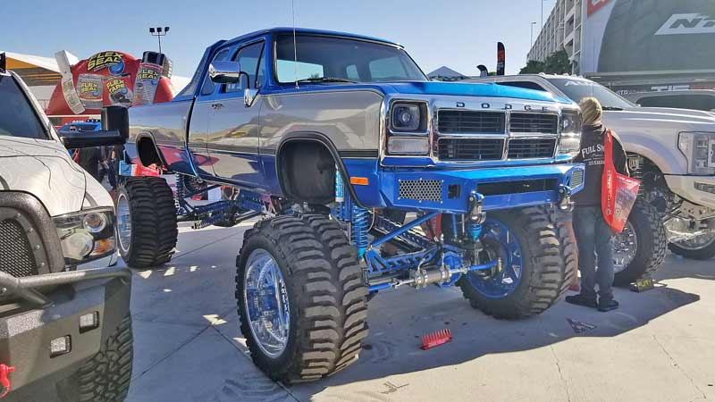 Vintage bodies on lifted chassis designs are really popular at the moment, and this clean Dodge was one of the best at the show.