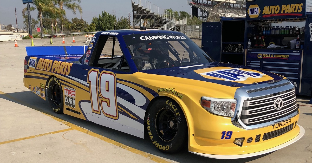 Derek Kraus 19 Camping World Truck Series debut 2018 NAPA