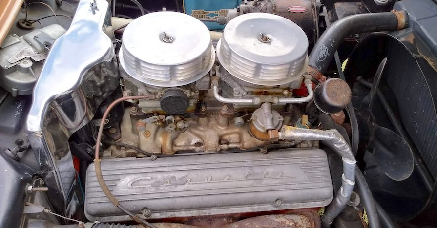 A vintage Corvette with original V8 engine that was regularly maintained.
