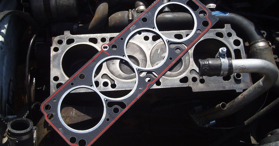 An engine's head gasket.