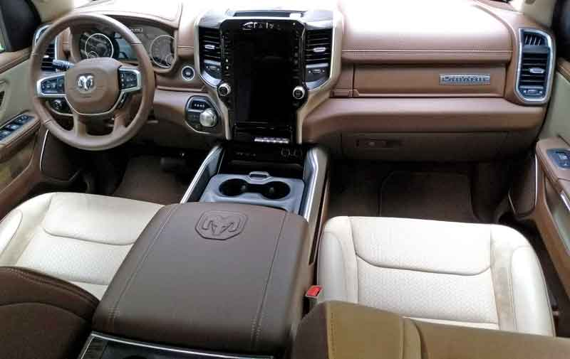 Front seats and dash. The size of the center console is easy to see.