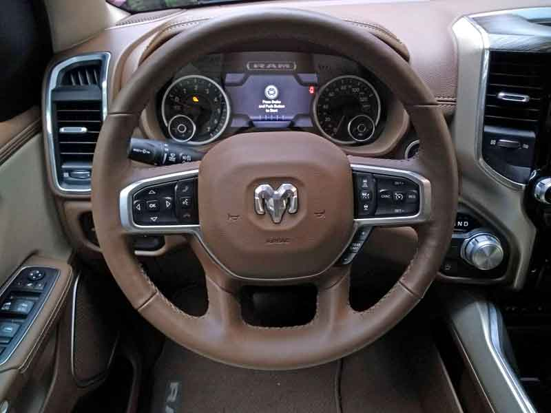 2019 Ram 1500 Laramie Quad Cab steering wheel