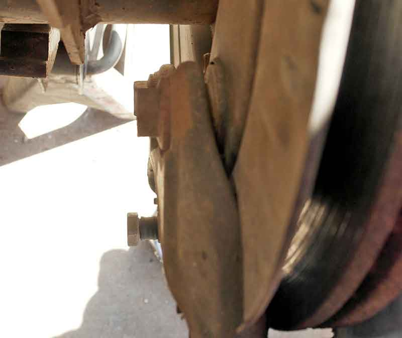 """Under the car, the bolts are not hard to access, but even our 1/2"""" cordless impact with 1,000 ft lbs of reverse torque could not break them loose."""