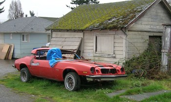 A car cover could have saved this project car from disaster.