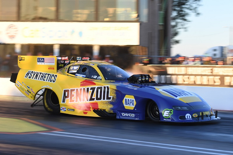 Ron Capps funny car lit candles