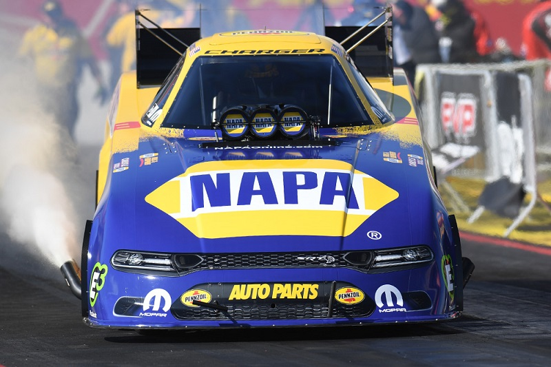 Ron Capps funny car head-on