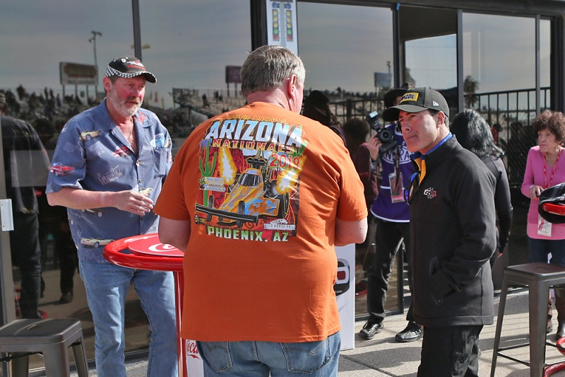Ron Capps with fans