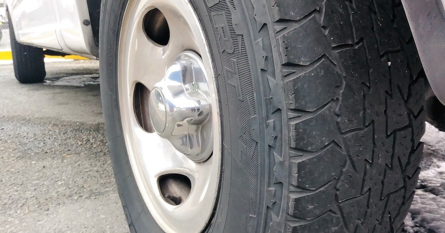 Tire tread on a tire. Looking at how your tires are wearing out reveals a lot about your driving style.