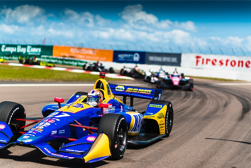 |Photographer: Jamie Sheldrick|Session: race|Event: Firestone Grand Prix of St Petersburg|Circuit: Streets of St Petersburg|Location: St Petersburg, Florida|Series: NTT IndyCar Series|Season: 2019|Country: US|Car: Dallara DW12 UAK18|Number: 27|Team: Andretti Autosport|Driver: Alexander Rossi|